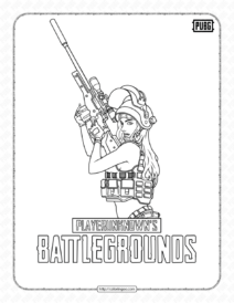 Pubg Battlegrounds Coloring Pages for Boys