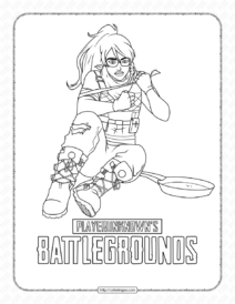 Pubg Battlegrounds Coloring Pages for Kids