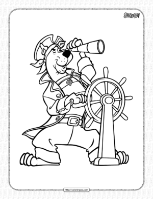 Sailor Scooby-Doo Coloring Page