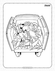 Scooby-Doo and Shaggy Coloring Page for Kids
