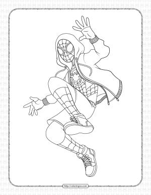 Spider-Man Miles Morales Pdf Coloring Page