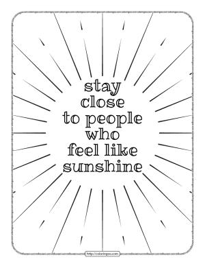 Stay Close to People Who Feel Like Sunshine