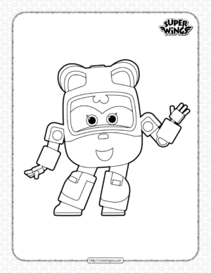 Super Wings Dizzy Coloring Page for Kids