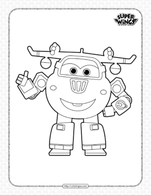 Super Wings Donnie Coloring Page for Kids