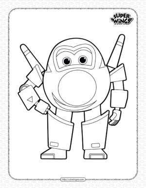 Super Wings Jerome Coloring Page for Kids
