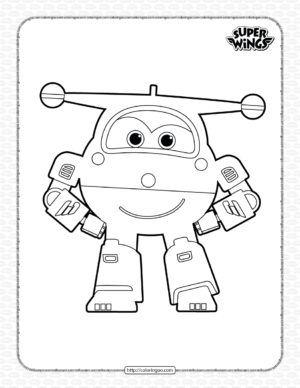 Super Wings Jett Coloring Page for Kids