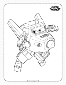 Super Wings Paul Pdf Coloring Pages