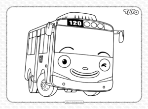 Tayo The Little Bus Coloring Page