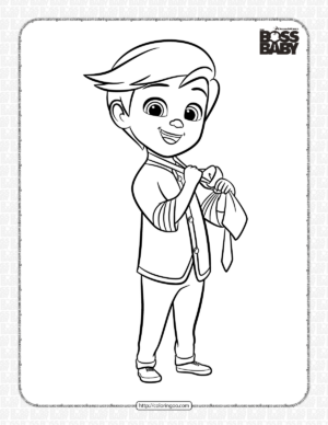 The Boss Baby Brother Tim Coloring Page