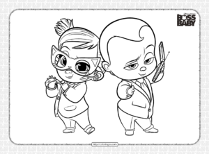 The Boss Baby Family Business Coloring Pages