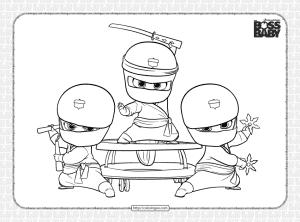 The Boss Baby Ninja Babies Coloring Page