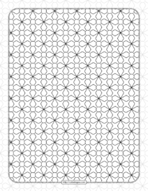 Abstract Geometric Decoration Pattern with Lines