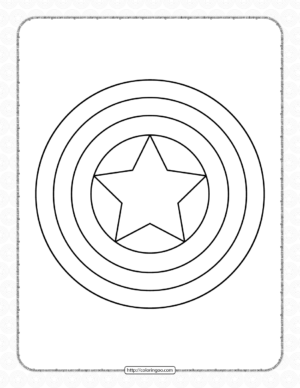 Captain America's Shield Coloring Page