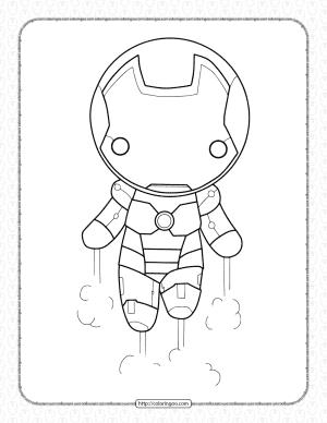 Chibi Iron Man Pdf Coloring Page
