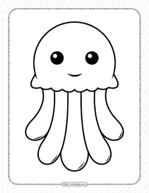 Cute Jellyfish Coloring Pages for Kids