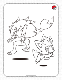 Dark-type Pokemon Pdf Coloring Page