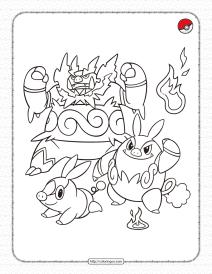 Fire-type Pokemon Pdf Coloring Page