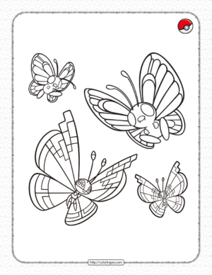 Flying-type Pokemon Pdf Coloring Page