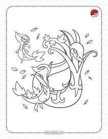 Grass-type Pokemon Pdf Coloring Page