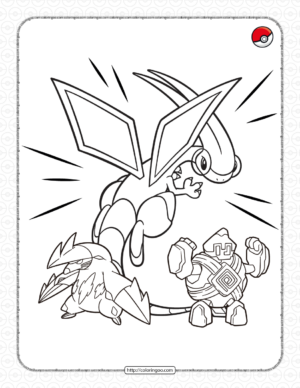 Ground-type Pokemon Pdf Coloring Pages