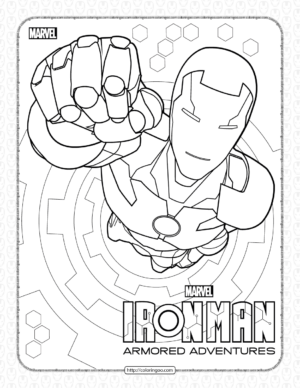 Marvel Iron Man Coloring Pages for Kids