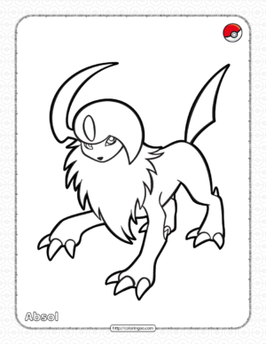 Pokemon Absol Coloring Pages
