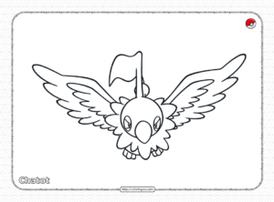 Pokemon Chatot Coloring Pages