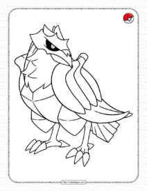 Pokemon Corviknight Coloring Pages