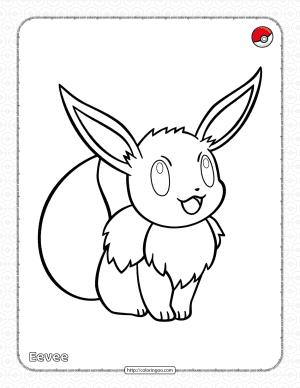 Pokemon Eevee Pdf Coloring Page