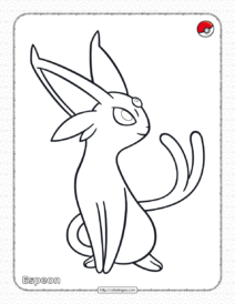 Pokemon Espeon Coloring Pages