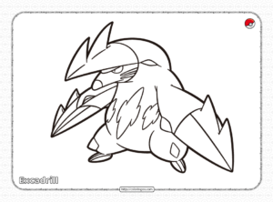 Pokemon Excadrill Coloring Pages