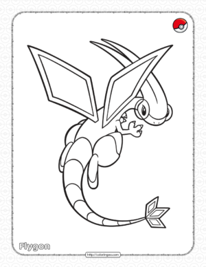 Pokemon Flygon Coloring Pages