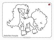 Pokemon Galarian PonytaColoring Pages