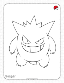 Pokemon Gengar Coloring Pages
