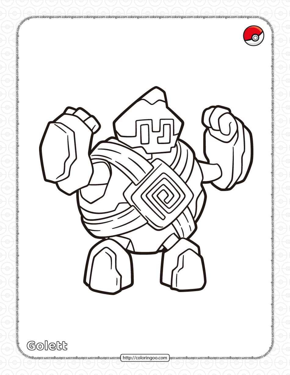 Pokemon Golett Coloring Pages