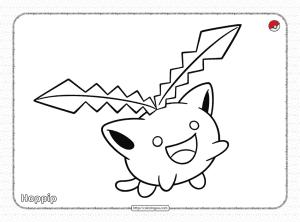 Pokemon Hoppip Pdf Coloring Page
