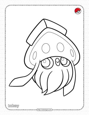 Pokemon Inkay Pdf Coloring Page