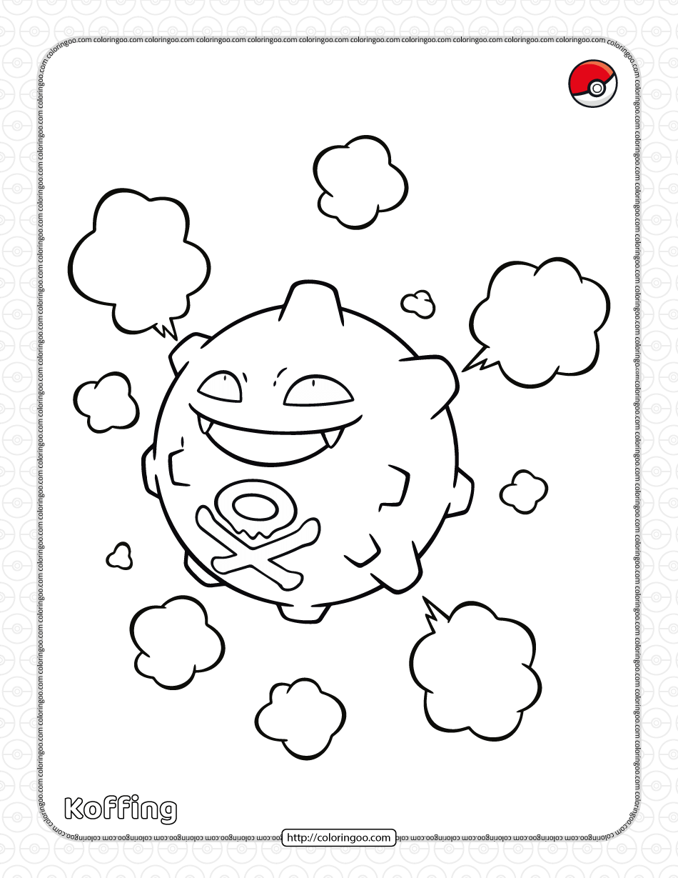 Pokemon KoffingColoring Pages