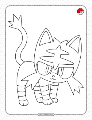 Pokemon LittenColoring Pages