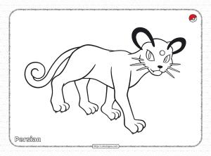 Pokemon Persian Pdf Coloring Page