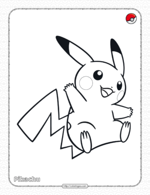 Pokemon Pikachu Pdf Coloring Page