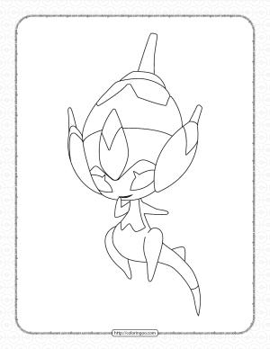 Pokemon Poipole Pdf Coloring Page