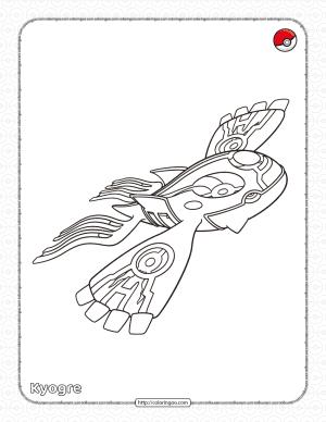 Pokemon Primal Kyogre Coloring Page
