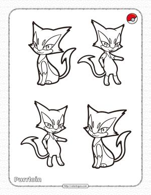 Pokemon Purrloin Coloring Pages