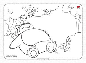 Pokemon Snorlax Sleeping Under the Apple Tree