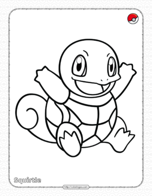 Pokemon Squirtle Pdf Coloring Page