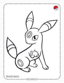 Pokemon Umbreon Coloring Pages for Kids