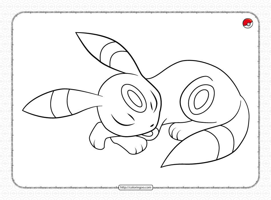 Pokemon UmbreonColoring Pages