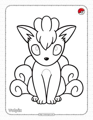 Pokemon Vulpix Pdf Coloring Page