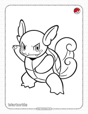 Pokemon Wartortle Pdf Coloring Page
